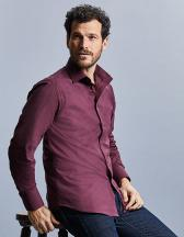 Men`s Long Sleeve Fitted Stretch Shirt